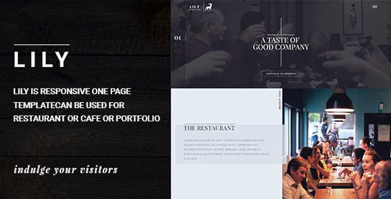 lily responsive one page restaurant template free download get